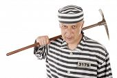 picture of gad  - Convict prisoner jailbird with pickax - JPG
