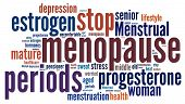 pic of menstruation  - Menopause in word collage - JPG