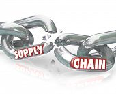 foto of significant  - The words Broken Promise on chain links breaking apart to symbolize unfaithfulness - JPG
