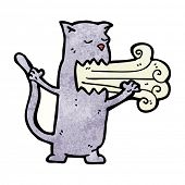 image of belching  - cartoon belching cat - JPG