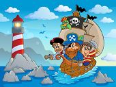 Lighthouse theme image 6 - eps10 vector illustration.