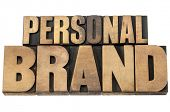 personal brand - isolated text in mixed letterpress wood type printing blocks