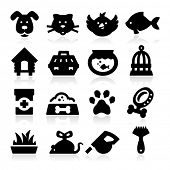stock photo of fish icon  - Pet  Icons - JPG
