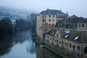 foto of avon  - Foggy evening in city of Bath - JPG