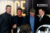 NEW YORK-DEC 16: Actor Robert DeNiro (R) and Sylvester Stallone attend the world premiere of