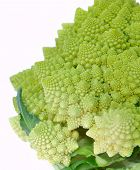stock photo of romanesco  - close on the head of  - JPG