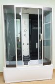 pic of shower-cubicle  - the image of a shower cubicle - JPG