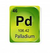 image of palladium  - Palladium chemical element with atomic number - JPG