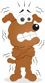 stock photo of shivering  - Vector cartoon funny dog is shivering - JPG