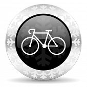 bicycle christmas icon
