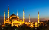 stock photo of constantinople  - Blue Mosque in Istanbul - JPG