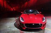 LOS ANGELES - NOV 19: Jaguar F Type Coupe at the Jaguar F-TYPE Coupe launch party at Raleigh Studios
