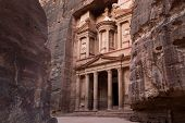 picture of treasury  - Treasury in Ancient City of Petra Jordan - JPG