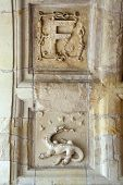 Постер, плакат: Heraldic motifs in the castle Chambord Valley of the river Cher France