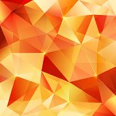 picture of crystal glass  - Orange shining crystal vector abstract triangles pattern - JPG