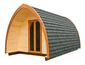 foto of tipi  - Wooden log cabin often used as a holiday lodge for glamping holidays isolated on a white background - JPG