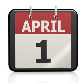 image of fool  - April 1 April Fools Day calendar image with hi - JPG