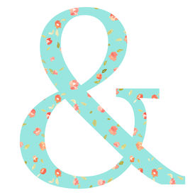 picture of ampersand  - Ampersand With Floral Patterned Background - JPG