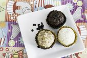 stock photo of sweetie  - Brazilian sweeties on a colorful table - JPG