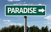 picture of jesus sign  - Paradise creative sign - JPG
