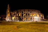 stock photo of stellar  - Colosseum in Rome against the stellar sky - JPG