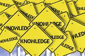 stock photo of academia  - Knowledge written on multiple road sign - JPG