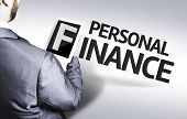 pic of personal assistant  - Business man with the text Personal Finance in a concept image - JPG