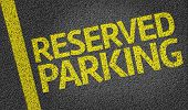pic of parking lot  - Parking space reserved for Reserved shoppers in a retail parking lot - JPG