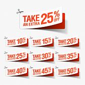 image of coupon  - Take an extra sale coupons - JPG