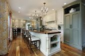 picture of kitchen appliance  - Kitchen in luxury home with large island - JPG