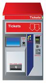 stock photo of coin slot  - Ticket machine with slots for credit card - JPG