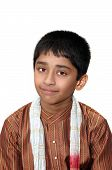 foto of sherwani  - An handsome Indian kid dressed very traditionally - JPG