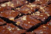 stock photo of tomas  - Brownies with nuts and chocolate - JPG