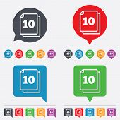 stock photo of bubble sheet  - In pack 10 sheets sign icon - JPG