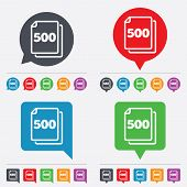stock photo of bubble sheet  - In pack 500 sheets sign icon - JPG