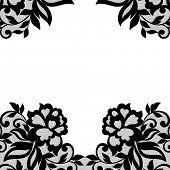 image of mehendi  - White flower frame - JPG