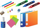 stock photo of green-blue  - Office supplies - JPG