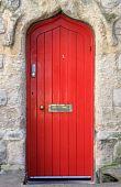 Medieval front door poster