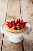 pic of custard  - Delicious homemade tartlet with custard and berries - JPG