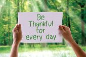 picture of humility  - Be Thankful for Every Day card with nature background - JPG