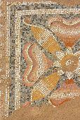 pic of greeks  - Ancient Greek mocaic in palaestra of Dion - JPG
