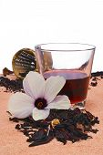 stock photo of hibiscus  - Hibiscus tea  - JPG