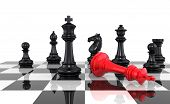 picture of three kings  - A game of chess comes to an end - JPG