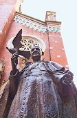 pic of constantinople  - The statue of Pope John XXIII also known as the Turkish Pope in the courtyard of St Antony - JPG
