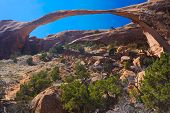 stock photo of arch  - Landscape Arch rock formation - JPG