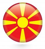 image of macedonia  - Macedonia flag glossy button on white background - JPG