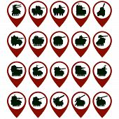 stock photo of armored car  - Badges with the abstract image of armored vehicles - JPG