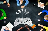 picture of brainwashing  - Game Controller Control Confusion Technology Concept - JPG
