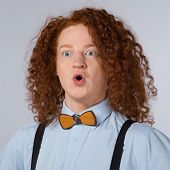 picture of bow tie hair  - Funny photo of red - JPG