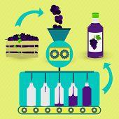 stock photo of grape  - Grape juice series production - JPG